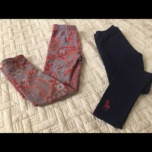 Girl's ralph lauren leggings, size 6